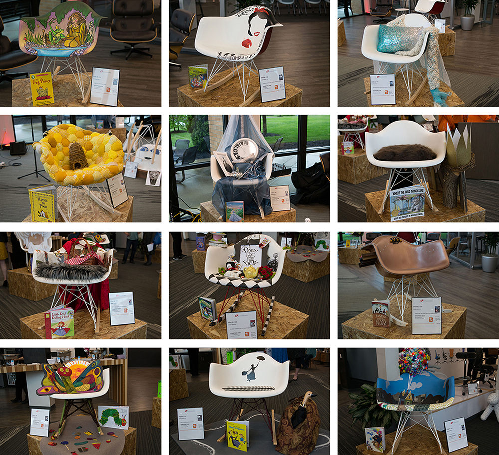 Collage of entries for the Chair Design Challenge