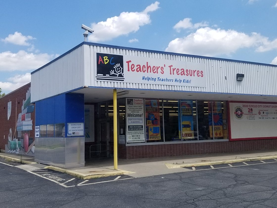 Teachers Treasures donation center building
