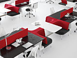 corporate office hero image desks with red chairs