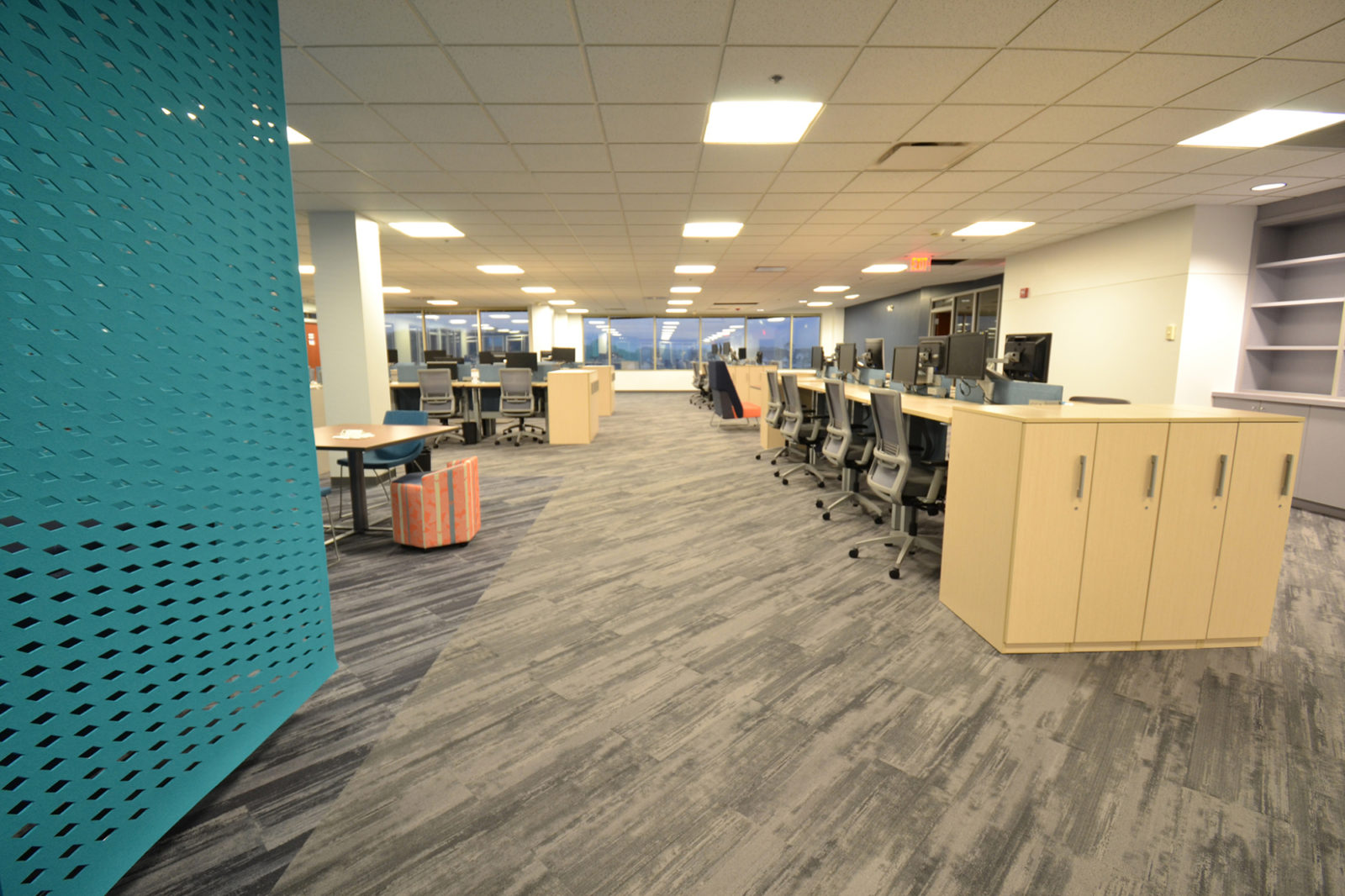 Prof. Services Firm Project Highlight: desk workspaces