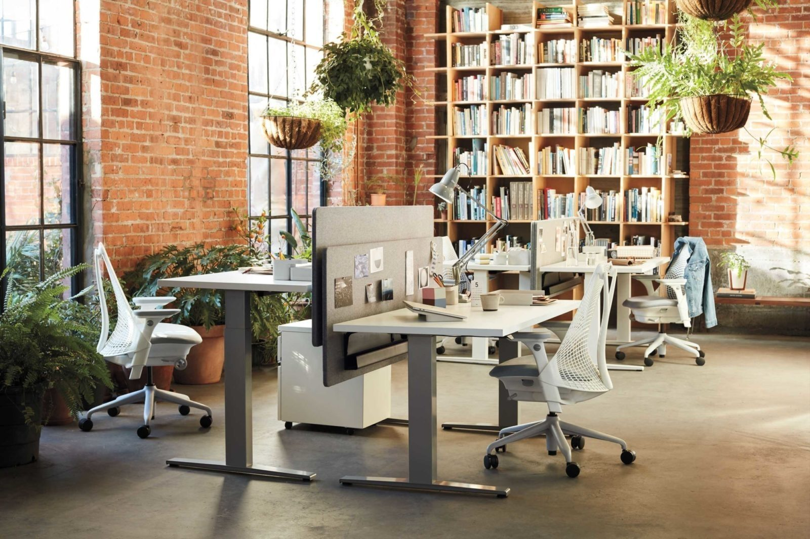 herman miller professional desk and chairs