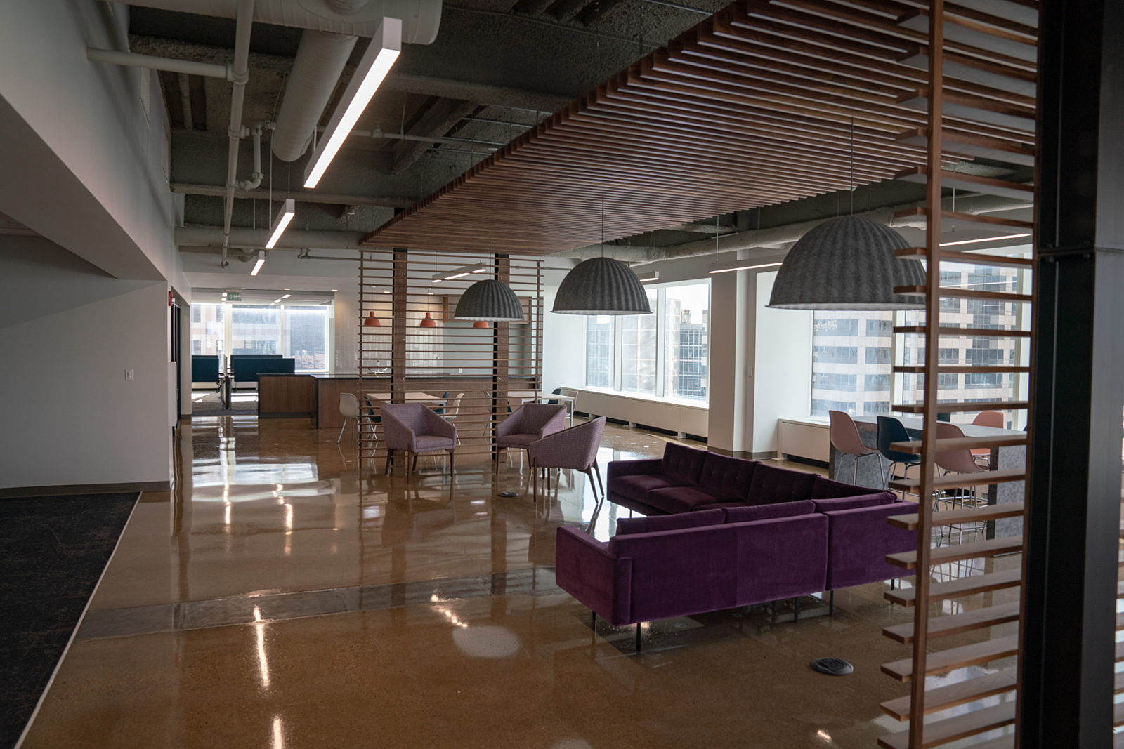 Lev Project Highlight: open lounge seating area