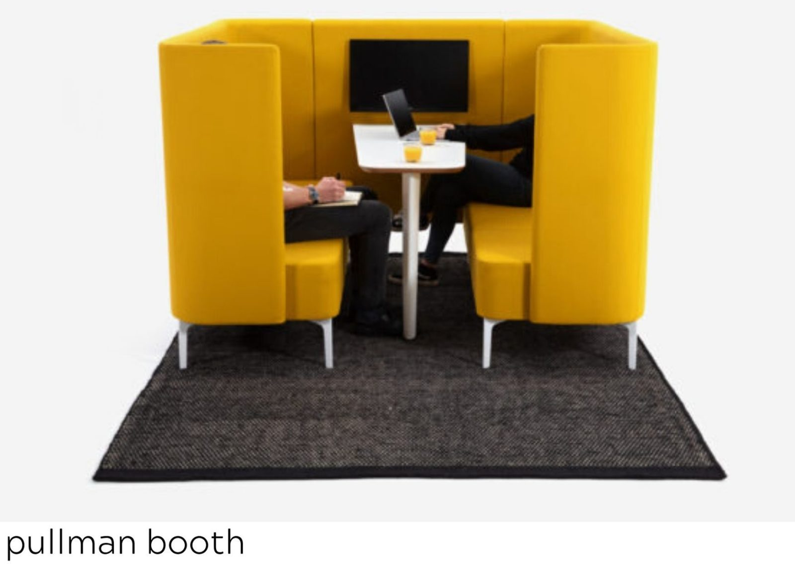 Pullman yellow booth with TV