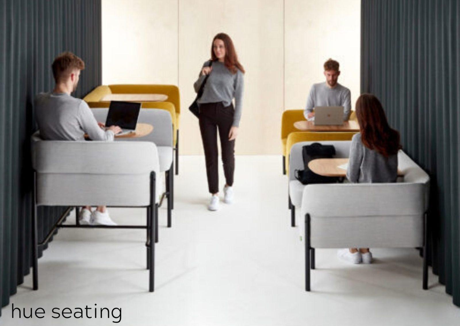 Pullman grey adjustable booths