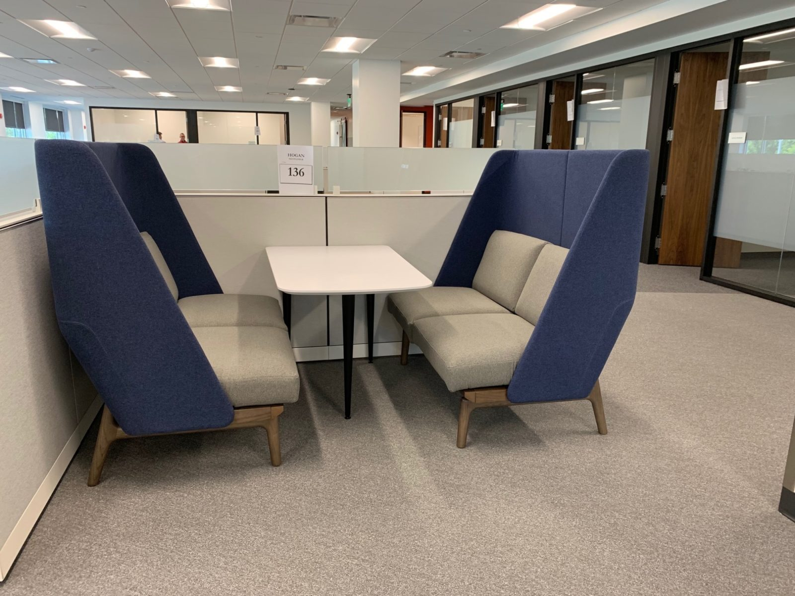 Booth and table at the Goodman Campbell Brain and Spine center