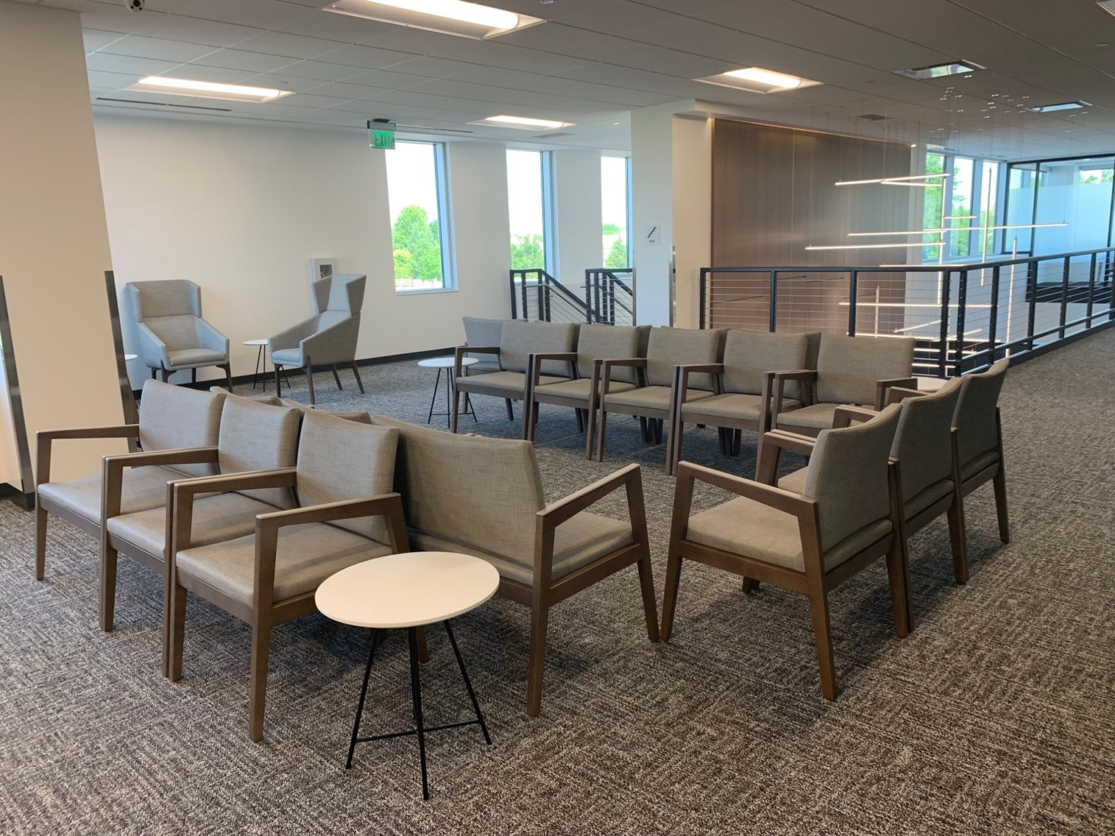 Reception waiting area in the Goodman Campbell Brain and Spine center