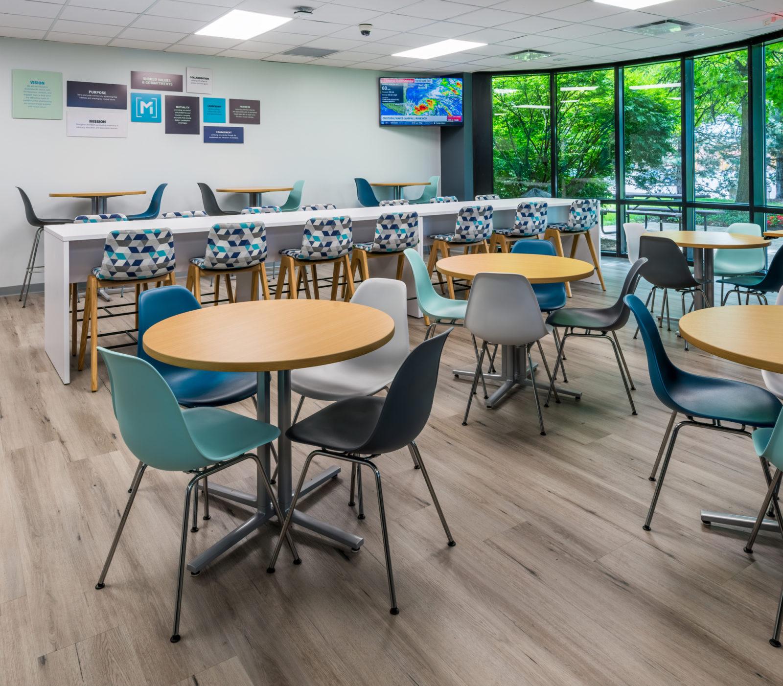 NAMIC office headquarters renovation lunch break area