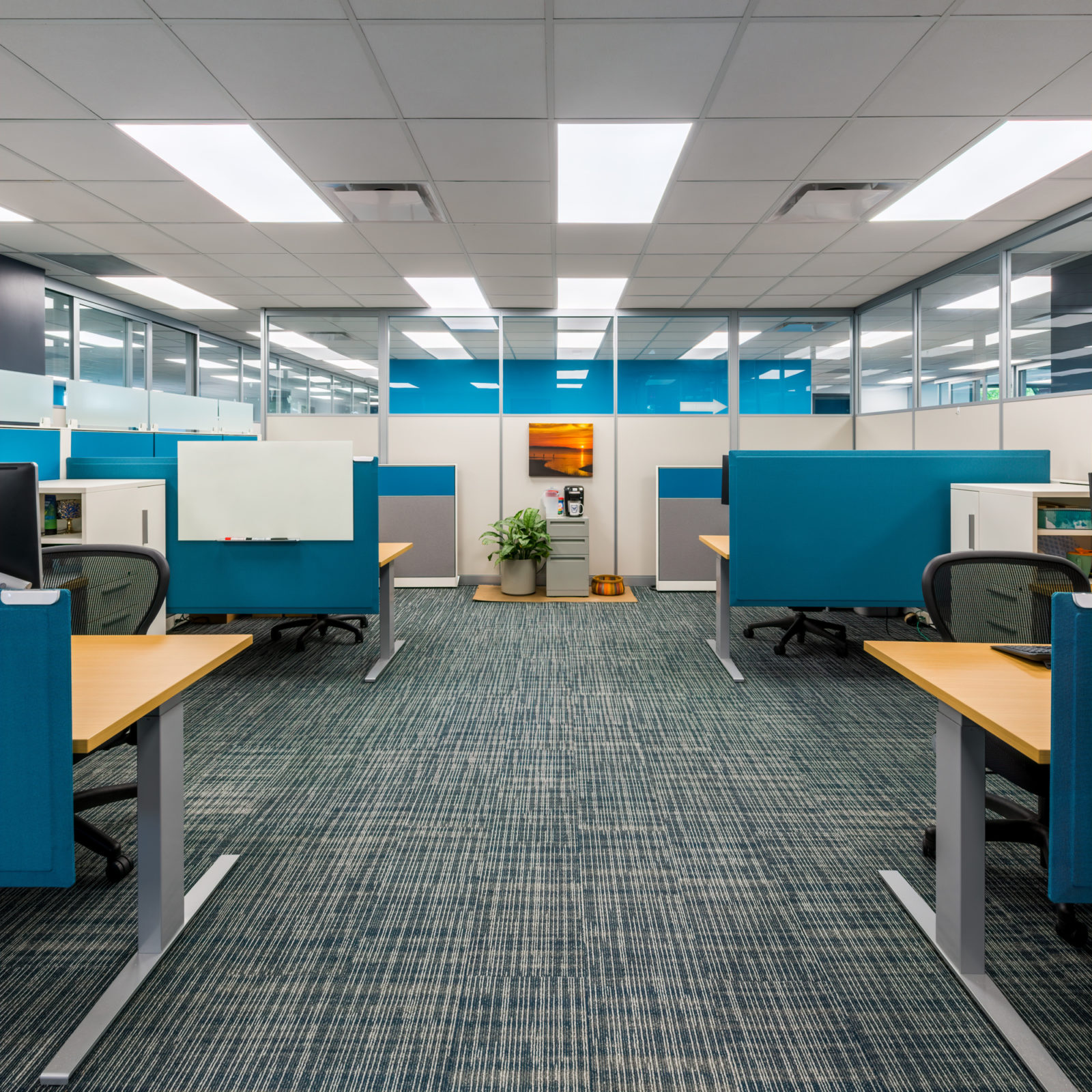 NAMIC office headquarters renovation cubicles walkway