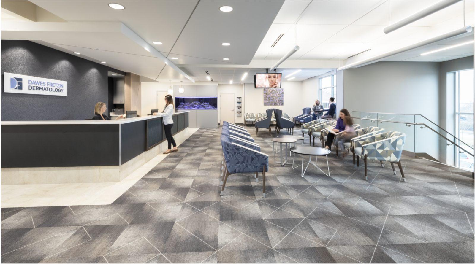 Dawes Fretzin project highlight reception area