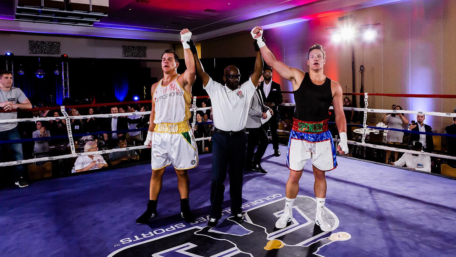 Scott O'Neil named winner during charity boxing match