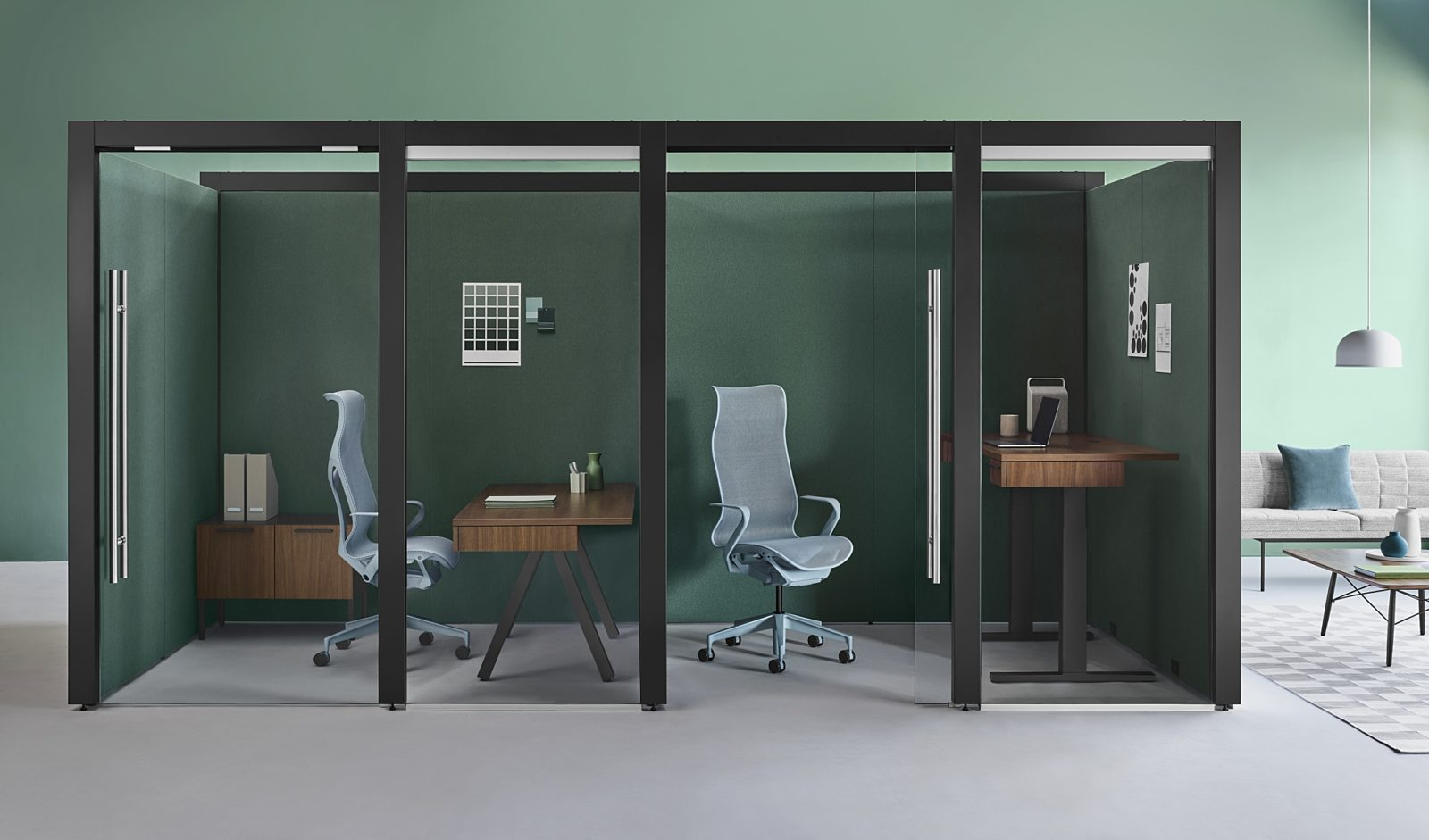 Overlay desk office space