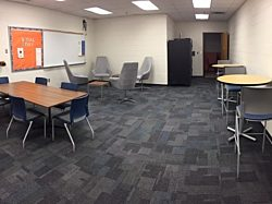 Full view of renovated teachers lounge