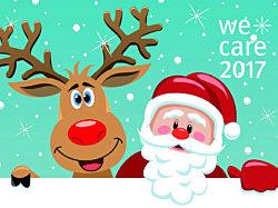 WeCare 2017 santa and reindeer graphic