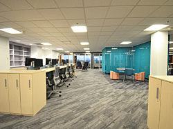 Prof. Services Firm Project Highlight: desk space and partition walls