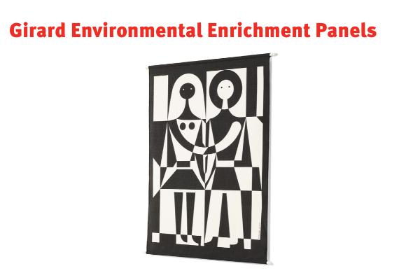 Girard Environmental Enrichment Panels black and white people pattern