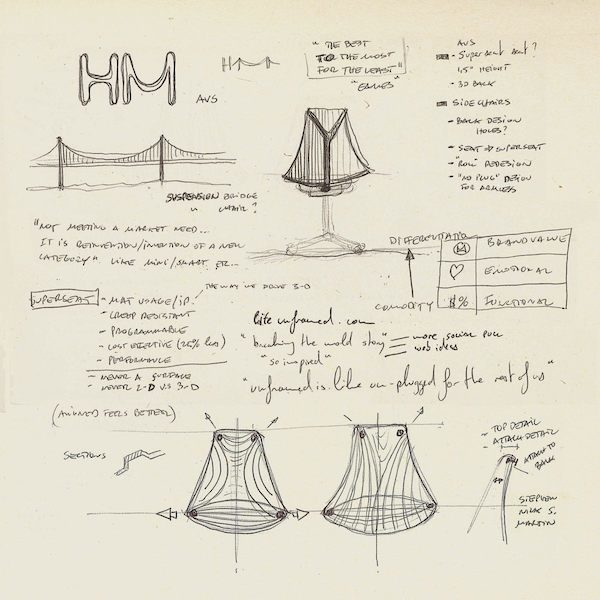 Sayl design drawings on notebook paper