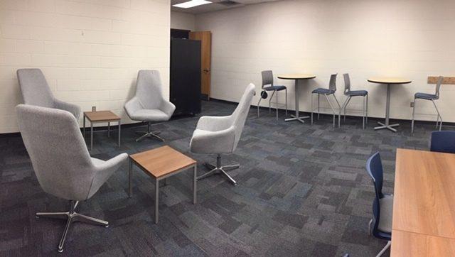 IPS school teachers lounge after OfficeWorks renovation