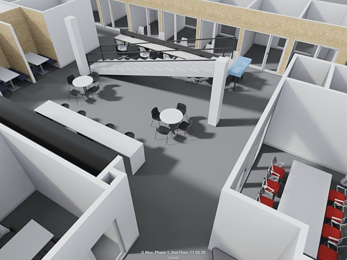 yulio g bloc virtual reality overhead view
