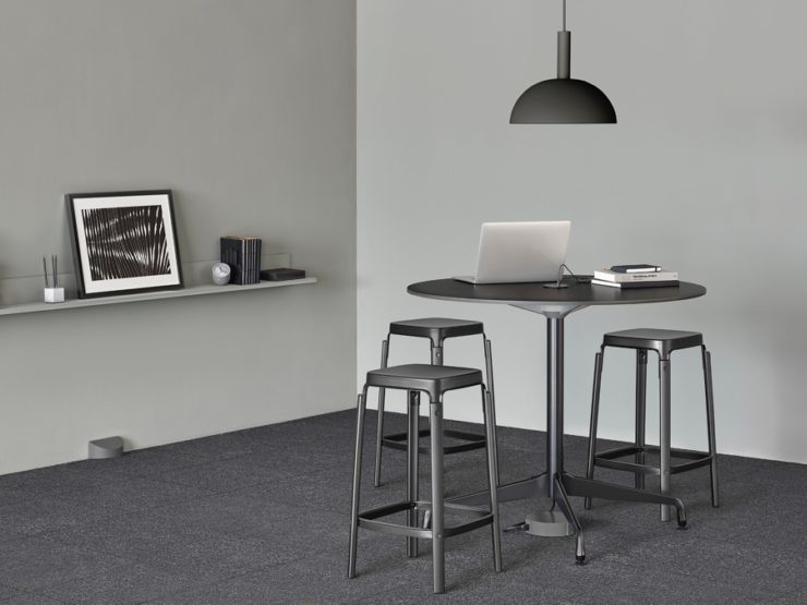 Logic Reach island table and stools