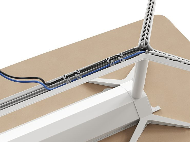 Headway Tables Generous Cable Capacity