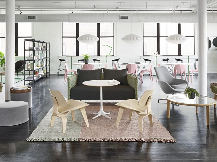 Maharam hero image, office space with tables and chairs