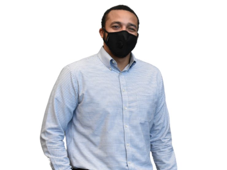 logan cooper headshot with mask