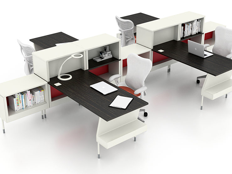 COVID solutions separated desk rendering