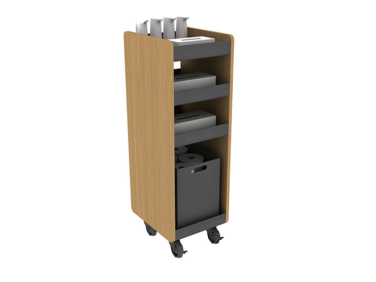 COVID solutions hygiene cart rendering