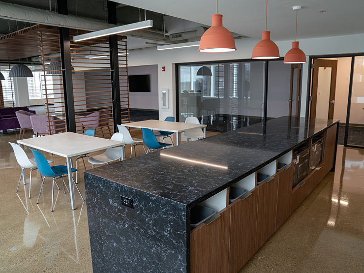 Lev Project Highlight: Kitchen island and table set up