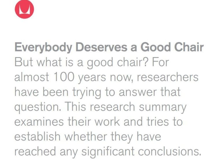 Everybody deserves a good chair case study screenshot