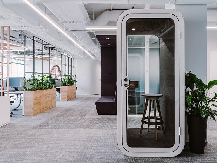 Framery single person pod stool open office space