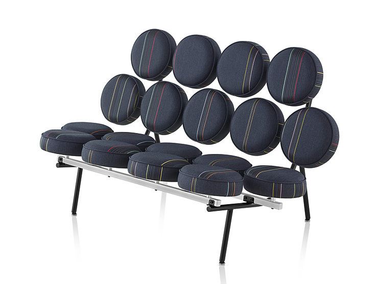 Maharam Herman Miller exclusive collection, round cushioned bench