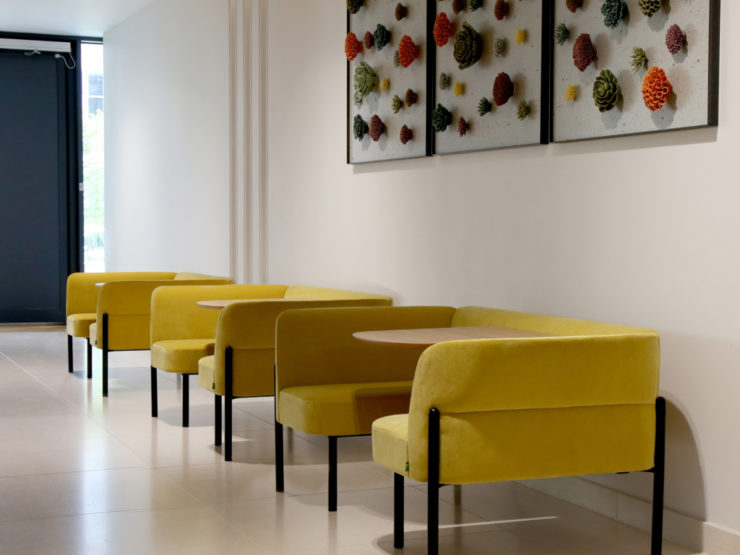 Naughtone Booths Hue Seating yellow