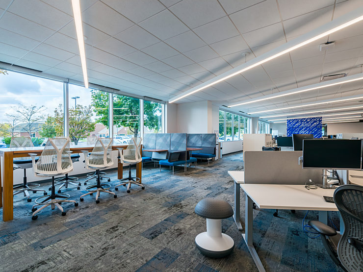 Bright open space with Herman Miller Furniture by Officeworks