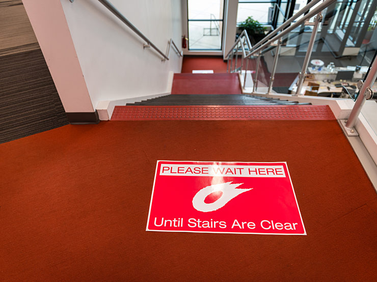 Office Works Safe Office stairs precaution