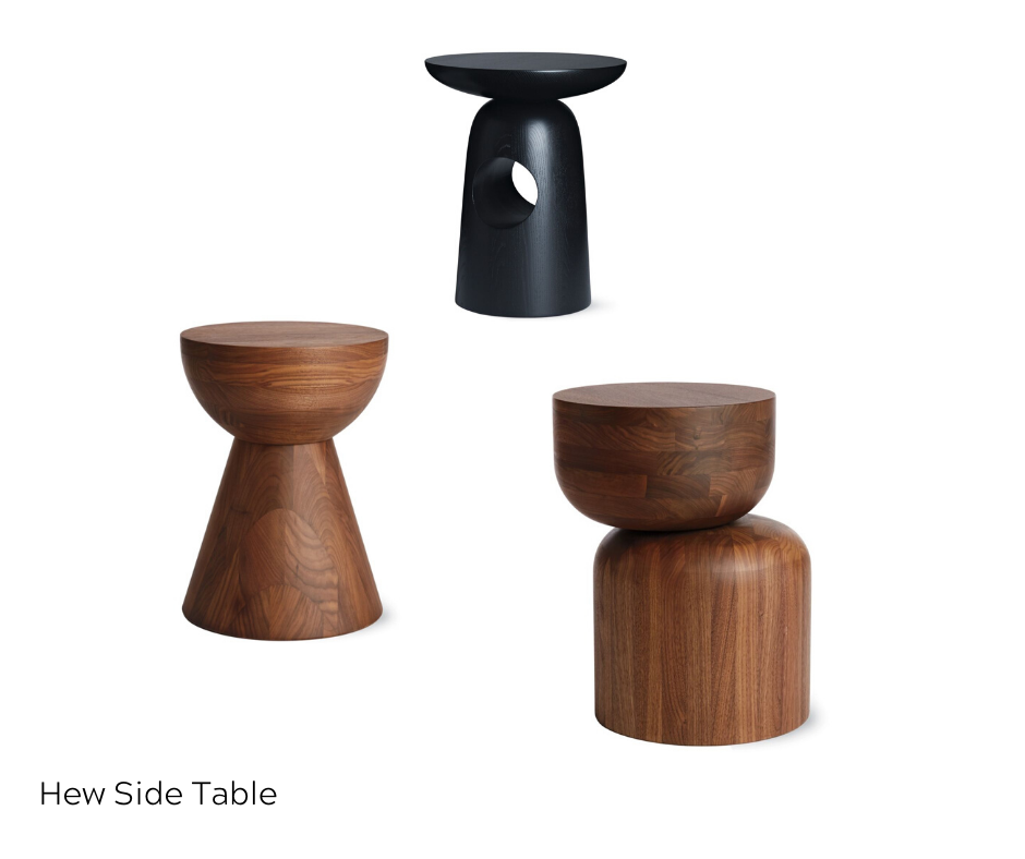 OfficeWorks - Three Hew Side Tables in black and brown