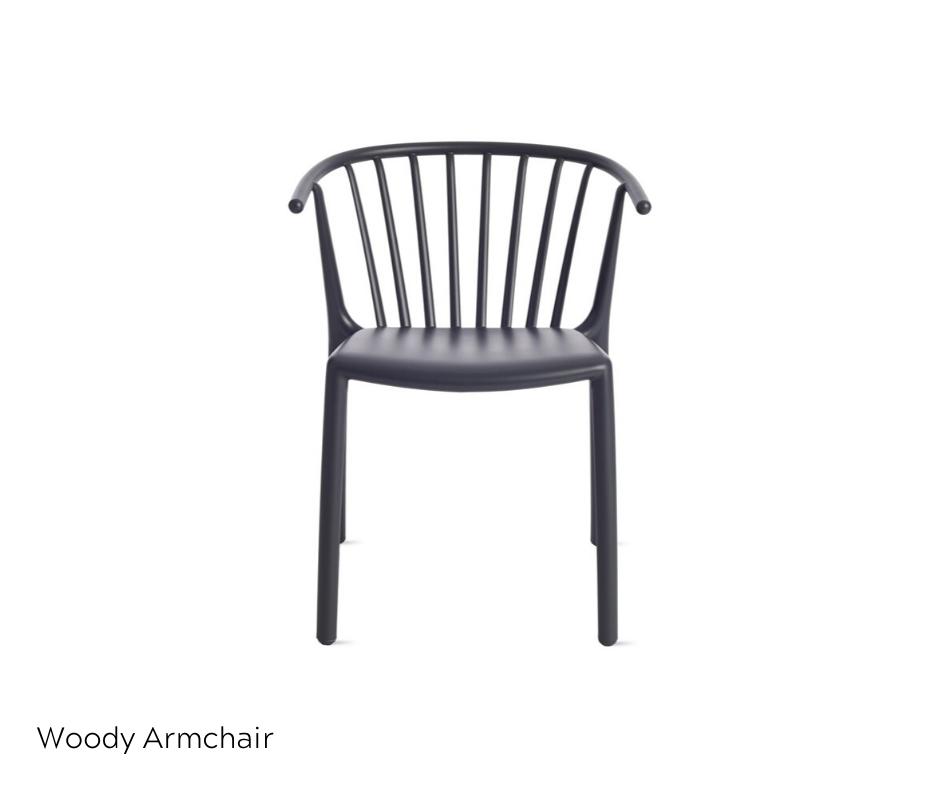 OfficeWorks - Woody Arm Chair in Black