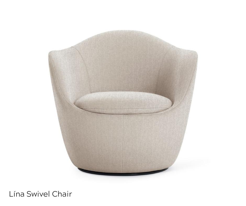 OfficeWorks - Lina Swivel Chair in Beige