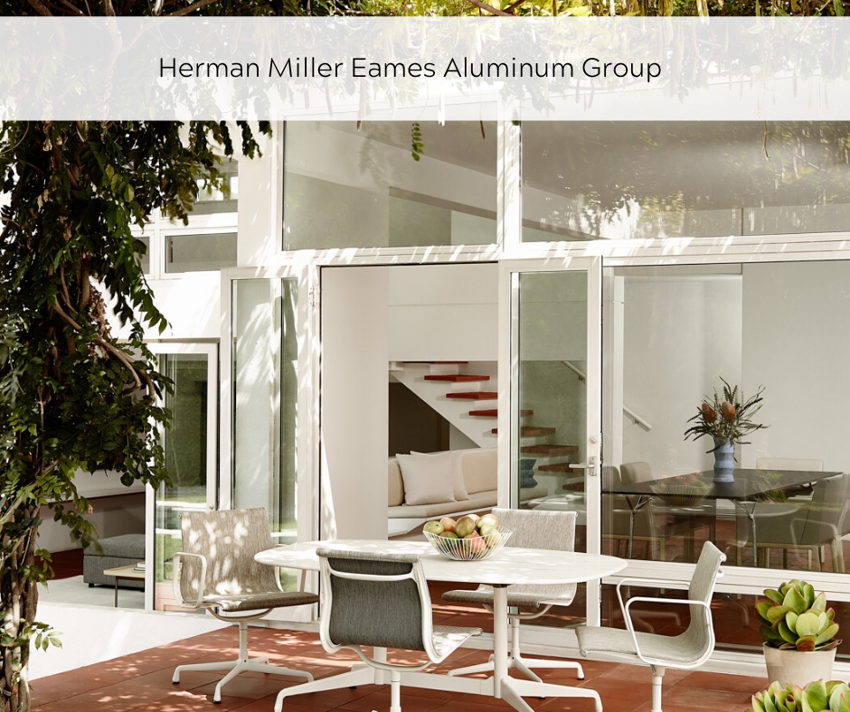 Herman Miller Eames Alluminum Group indoors