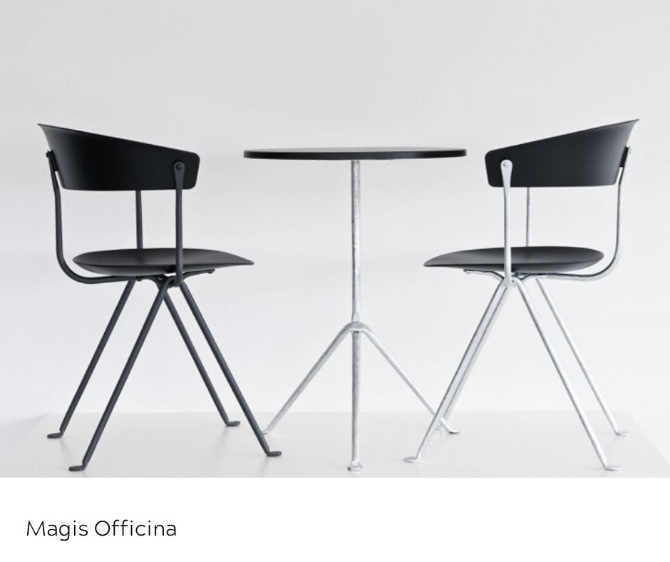 OfficeWorks - Magis Officina Table and Chairs in White