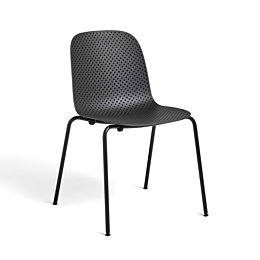 Black 13Eighty Chair viewed at a 45 degree angle