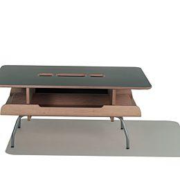 A black top wood grain Kotatsu table