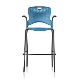 Blue Caper Stacking Stool front profile