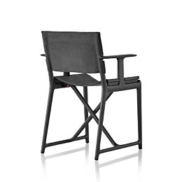Rear view of a black Magis Stanley director's chair