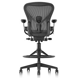 Black Aeron Stool, viewed from the rear.