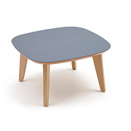 A square dark gray Dalby Coffee Table, viewed at an angle from above.